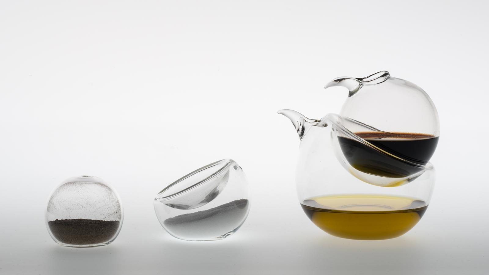 ins parables sets pour le sel et le poivre l 39 huile et le vinaigre bouchons en li ge pour. Black Bedroom Furniture Sets. Home Design Ideas
